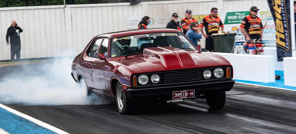 Casey Thomas's 1977 Ford XC Falcon at Drag Challenge 2019