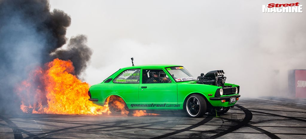 Last Chance Wildcard Shootout burnouts – Summernats 33