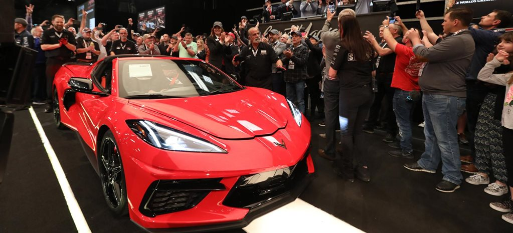 First Chevrolet C8 Corvette Stingray auction news