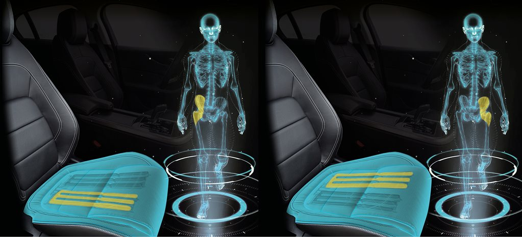 Jaguar develops car seat that simulates walking
