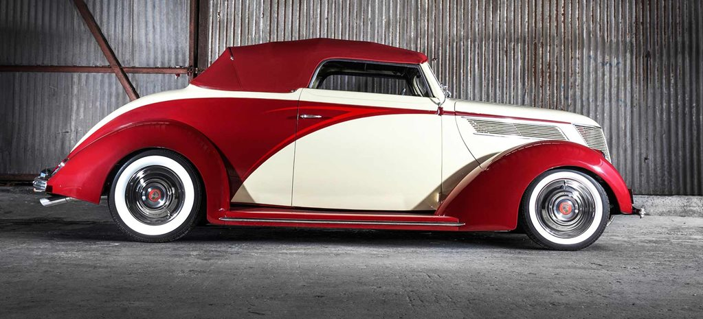Art Deco-style 1937 Ford Cabriolet