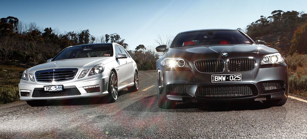 2010 BMW M5 vs Mercedes-Benz E63 AMG comparison feature