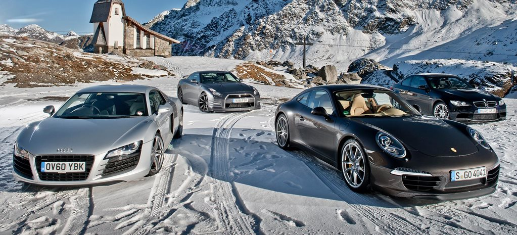 2012 Porsche 911 vs Audi R8 vs BMW M3 vs Nissan GT-R comparison feature