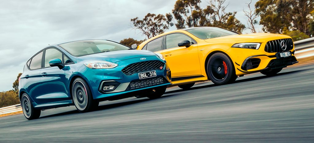 Ford Fiesta ST and AMG-A45 S performance testing
