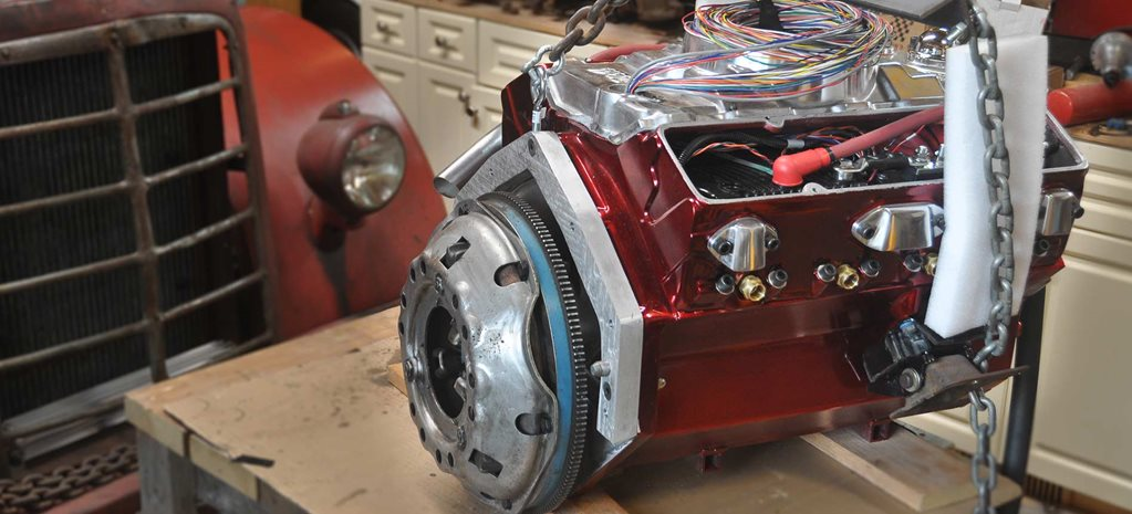 Electric motor hidden in a small-block Chev