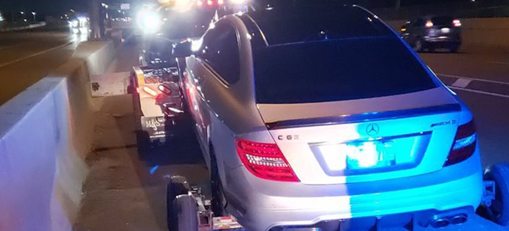 Teenager caught at 308km/h in Mercedes-AMG C63
