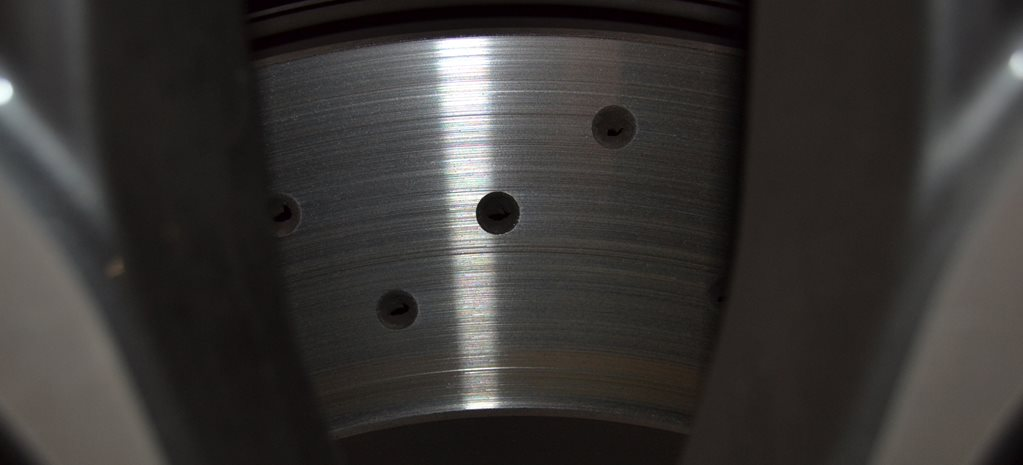 healthy cross-drilled brake disc