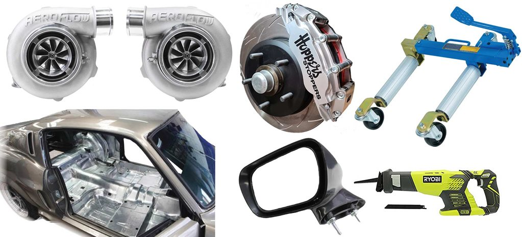 Street machine gear: Reproduction XA-XC mirrors, positioning jacks, intake manifolds + more