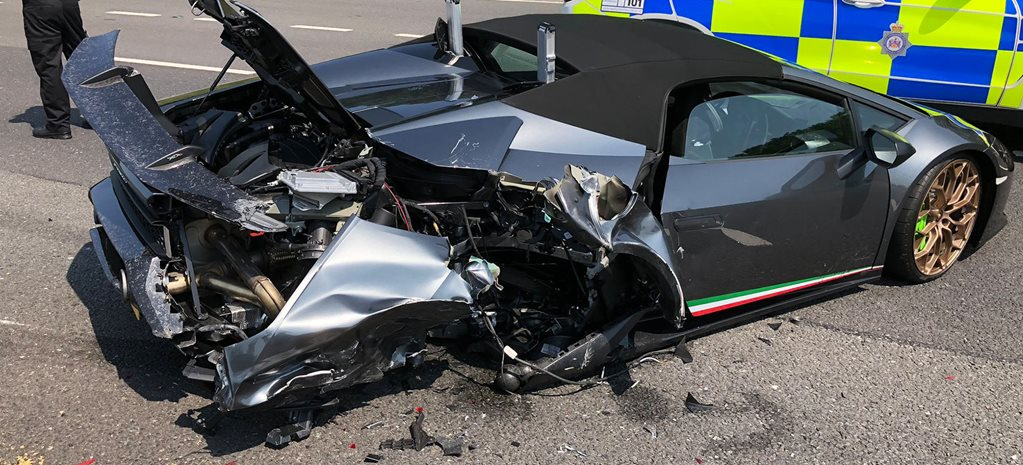 Lamborghini Performante Spyder destroyed during first drive