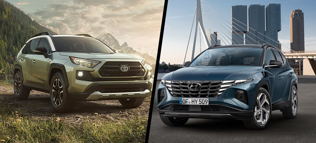 2021 Hyundai Tucson vs Toyota RAV4 virtual comparison