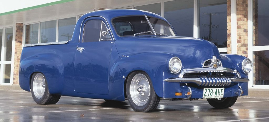 302 Windsor-swapped Holden FJ ute built on a Chev LUV chassis - flashback