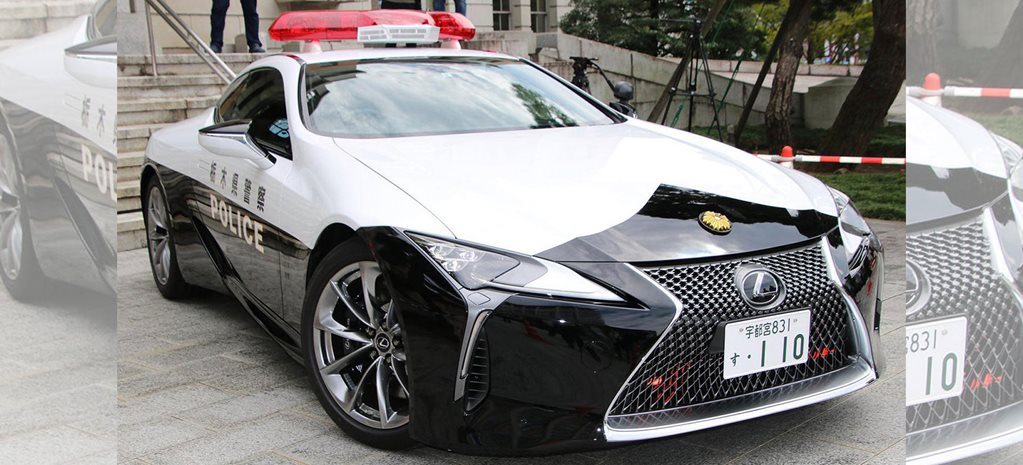 Lexus LC500 police car Japan