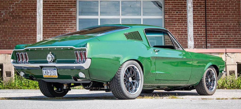 Home-built pro touring Bullitt-themed Ford Mustang