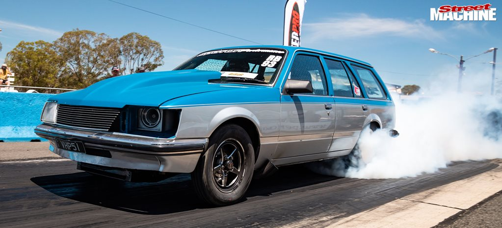 Ben Vlekken's VH Commodore wagon wins Drag Challenge Weekend 2020