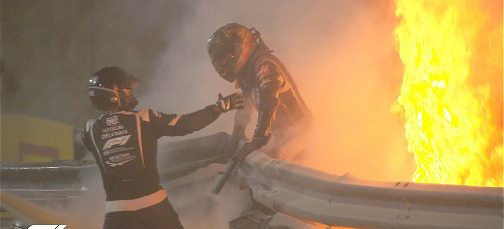 Miracle escape from fiery wreck for F1 driver