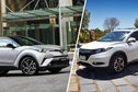 Toyota C-HR v Honda HR-V VTi comparison review
