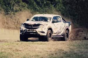 Mad Mike Whiddett thrashes his Mazda BT-50 for Turtle Wax