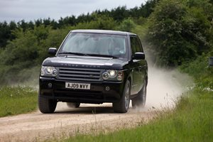 Armoured Range Rover custom driving