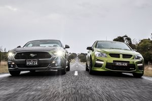 HSV GTS vs Ford Mustang GT