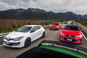 Commodore SS-V Redline v Audi RS3 v BMW M135i v Mercedes-AMG A45 v Mini JCW v Renaultsport Megane v VW Golf R comparison review