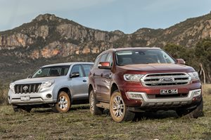 Ford Everest v Toyota Prado comparison review