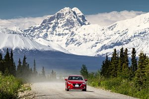 Driving a Mazda3 on the Haul Road in Alaska
