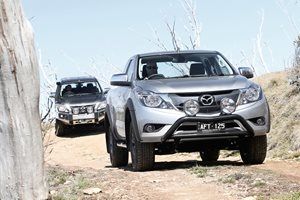 Learning to drive a Mazda BT-50 4x4 off-road on Fraser Island