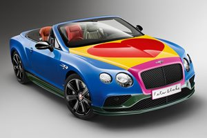 Bentley Continental GT pop art special edition by Sir Peter Blake