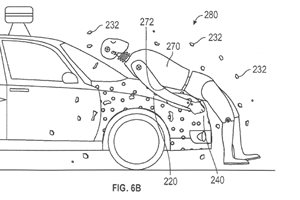 Google's new car bonnet to glue pedestrians