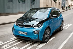 BMW i3 driving front