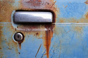 Rusted car door