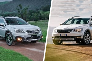 Subaru Outback vs Skoda Scout comparison review