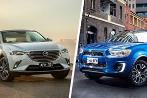 Mitsubishi ASX LS vs Mazda CX-3 Maxx comparison review