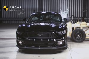 Ford Mustang ANCAP crash test