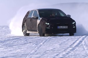 Hyundai i30 N hot hatch testing in the snow