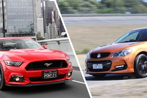 Ford Mustang GT Fastback vs Holden Commodore SS-V Redline Ute...