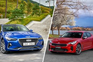 2017 Kia Stinger v Genesis G70 – how do they compare?