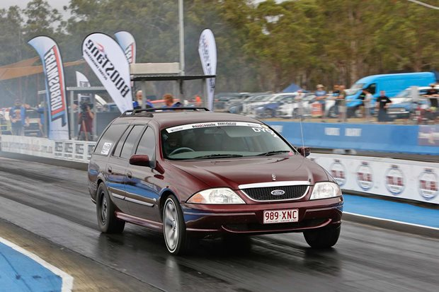 347ci V8-powered AU Falcon wagon at Drag Challenge Weekend
