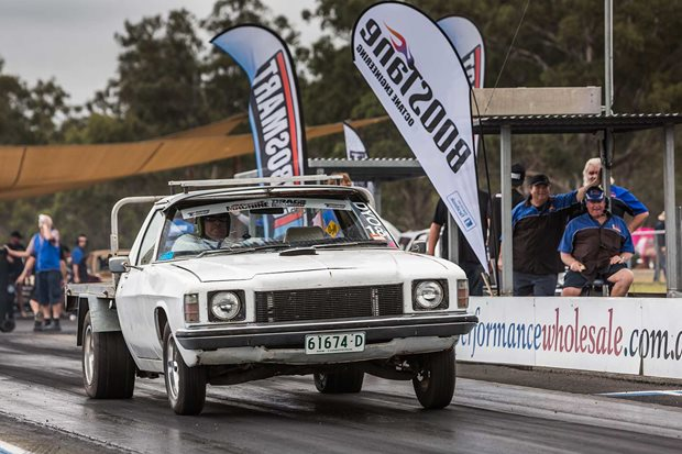 LS-powered HQ One Tonner at Drag Challenge Weekend