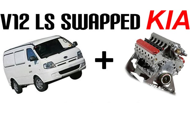 V12 LS-swapped Kia Pregio van – Video