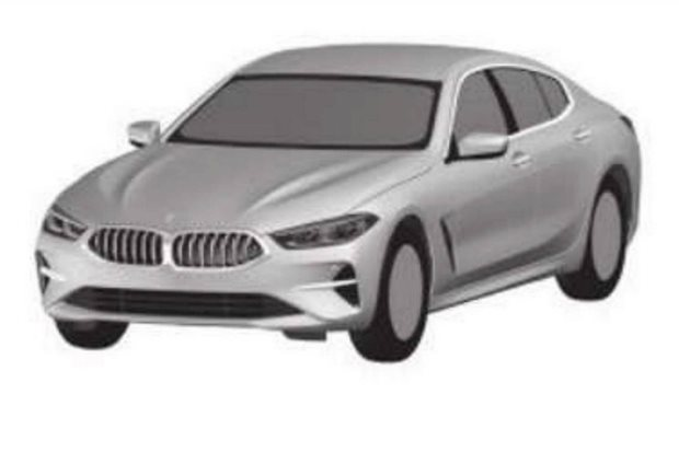 2019 BMW 8 Series Gran Coupe leaked in patent image