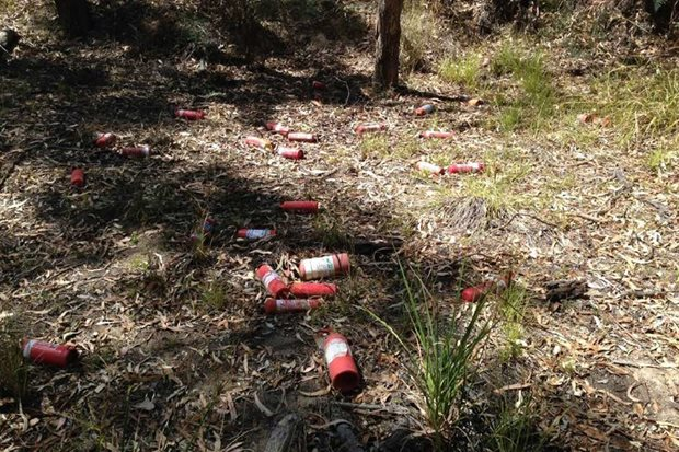 Illegal dumping of rubbish in parks and forests a major concern