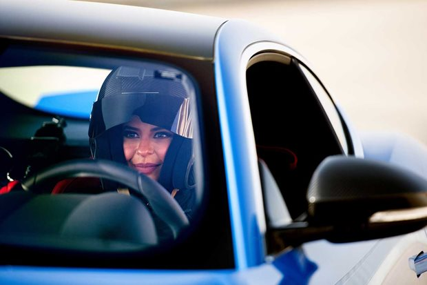 Saudi racer Aseel Al-Hamad marks end of female driving ban