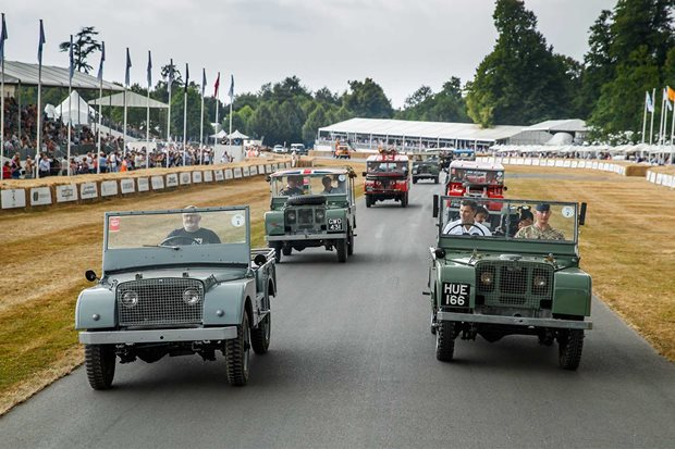Land Rover 70 years parade at Goodwood Festival of Speed