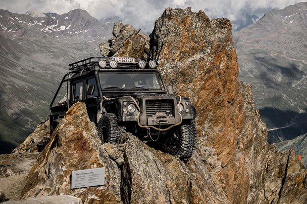 James Bond Land Rovers on display at 007 Elements show