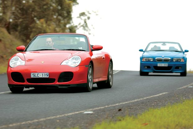 2004 Porsche 911 Carrera 4S Cabriolet vs BMW M3 Cabriolet comparison review