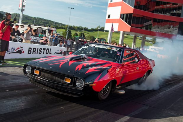 Bryant Goldstone's six-second AMC Javelin at Drag Week - video