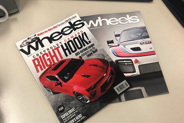 Camaro puts on the gloves for The General in Oz: Wheels magazine...
