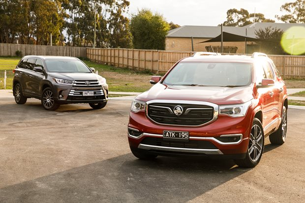 Holden Acadia LTZ-V v Toyota Kluger Grande comparison review