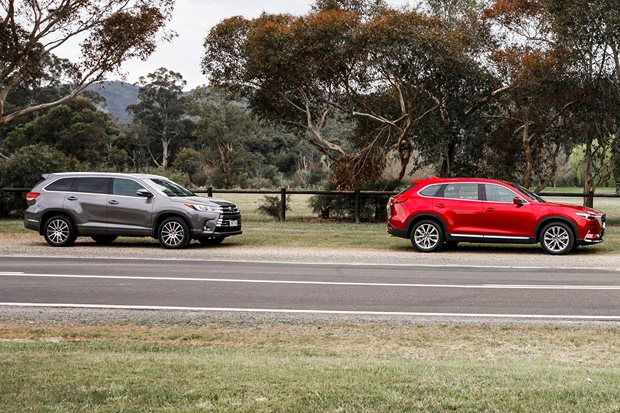 Mazda CX-9 v Toyota Kluger comparison review